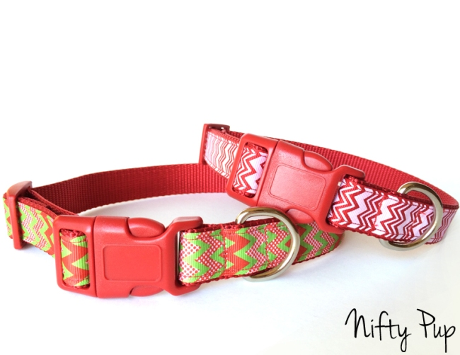 Chevron Christmas & Holiday Dog Collars